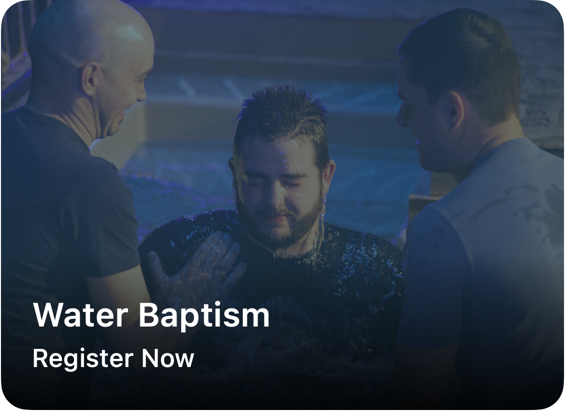 Baptism is an outward and public expression of what Christ has already accomplished within a person. If you are interested in pursuing baptism, please take a few minutes to register.